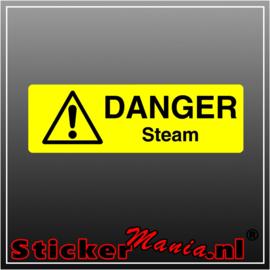 Danger steam full colour sticker