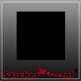 Vierkante krijtbord sticker