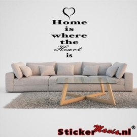 Home is where the heart is muursticker