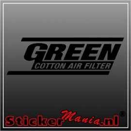 Green air filter sticker