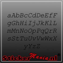 Eigen tekst lettertype Courier New