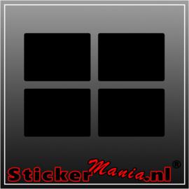 Set van 4 rechthoekige krijtbord sticker