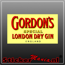 Gordon's gin full colour sticker