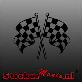 Dubbele vlag 2 sticker