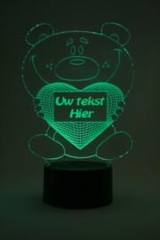Beer met eigen tekst led lamp