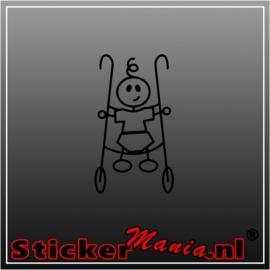 Sticky baby sticker