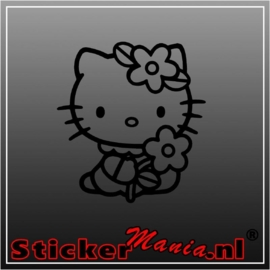 Hello kitty flower sticker