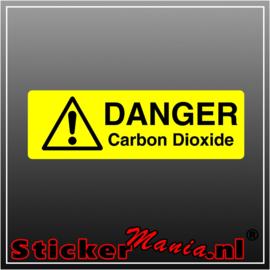 Danger carbon dioxide full colour sticker
