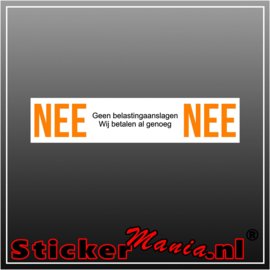 Nee | Nee belasting sticker wit