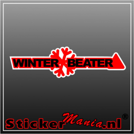 Winter Beater Full Colour sticker