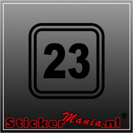 Race nummer 6 sticker