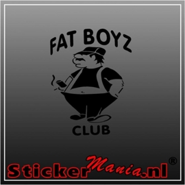 Fat boyz club sticker