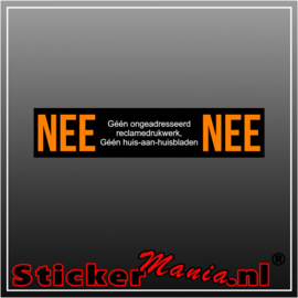 Nee | Nee reclamedrukwerk sticker zwart