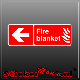Fire blanket links full colour sticker