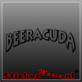 Beeracuda sticker