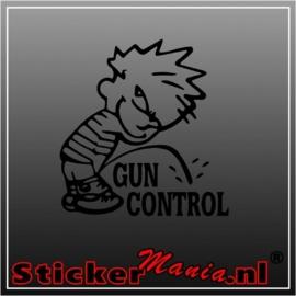 Calvin gun control sticker