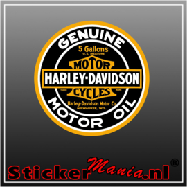 Harley davidson motor oil Full Colour sticker