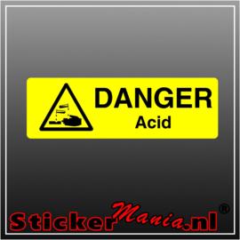 Danger acid full colour sticker