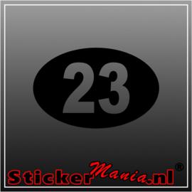 Race nummer 7 sticker