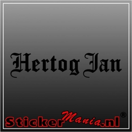 Hertog jan 2 sticker