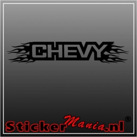 Chevy flames raamstreamer sticker