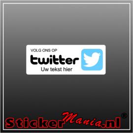 Volg ons op Twitter met eigen tekst