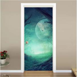 Maan deur sticker