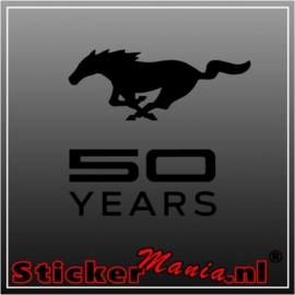 Ford mustang 50 years sticker
