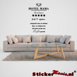 Hotel mama muur sticker