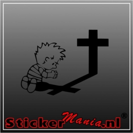 Calvin praying 2 sticker