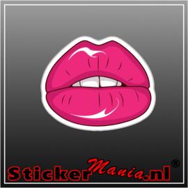 Lips Full Colour sticker