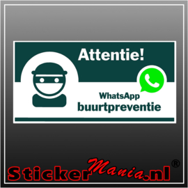 Whatsapp buurtpreventie full colour sticker