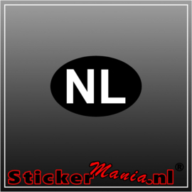 NL Zwart Wit Full Colour sticker