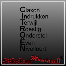 Citroën, Clacon Indrukken Terwijl... Sticker