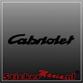 Peugeot cobriolet sticker