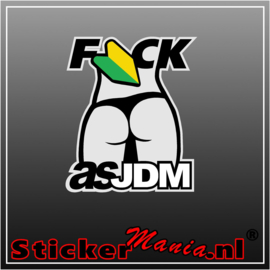 Fuck As JDM Full Colour sticker