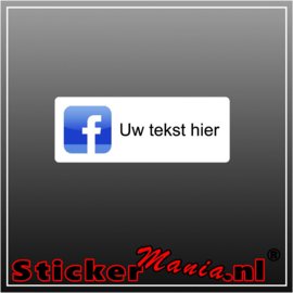 Facebook logo met eigen tekst