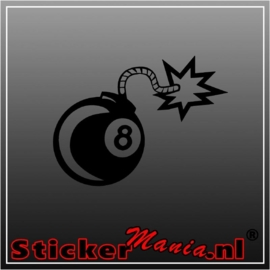 Eightball bomb sticker