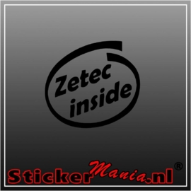 Zetec inside sticker