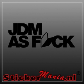 JDM as f*ck sticker
