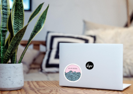 Go with the flow laptop sticker