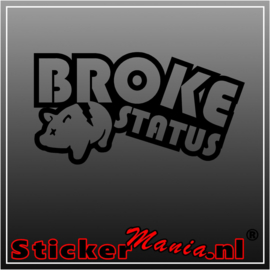 Broke status sticker
