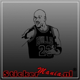 Micheal jordan sticker