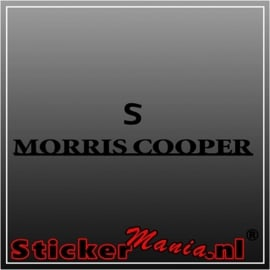 Mini cooper morris S sticker