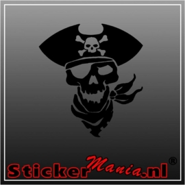 Pirate skull 2 sticker
