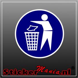 Gebruik vuilnisbak full colour sticker