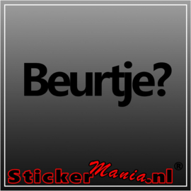 Beurtje? sticker