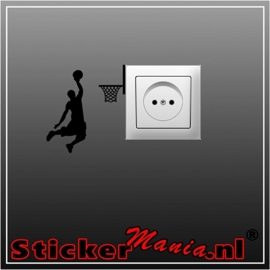 Basketbal stopcontact sticker