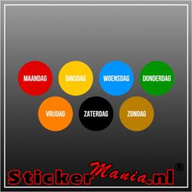 Houdbaarheid stickers - set van 5 x7 stickers