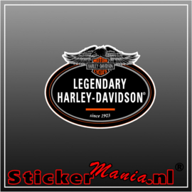 Legendary harley davidson Full Colour sticker